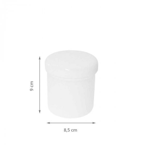 Boîte à coton tiges blanche