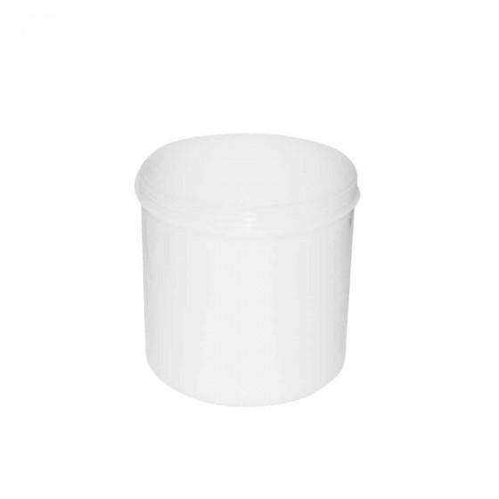 Boîte à coton tiges et coton  en plastique blanc.Taille M