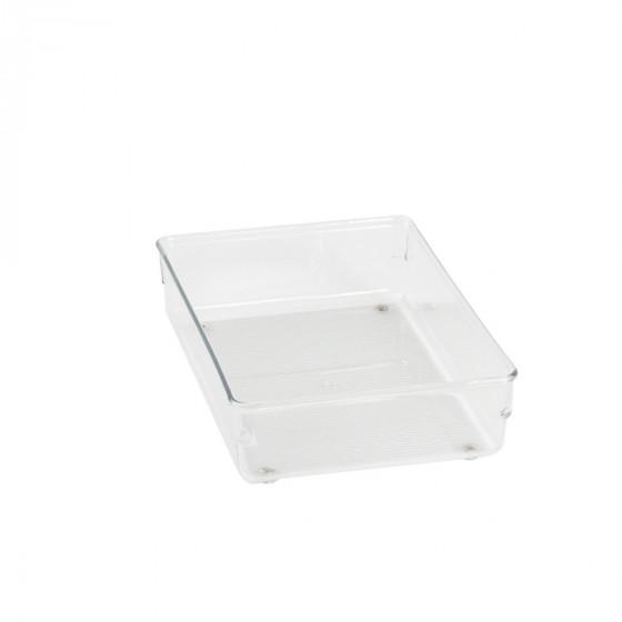 Organisateur M rectangulaire en acrylique pour tiroirs