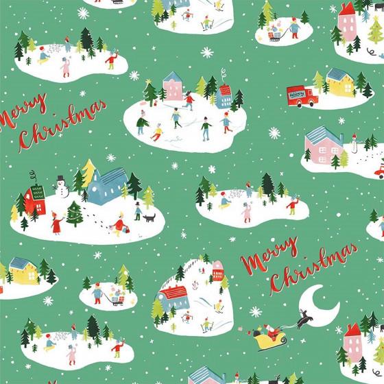 Feuille de papier cadeau de Noël