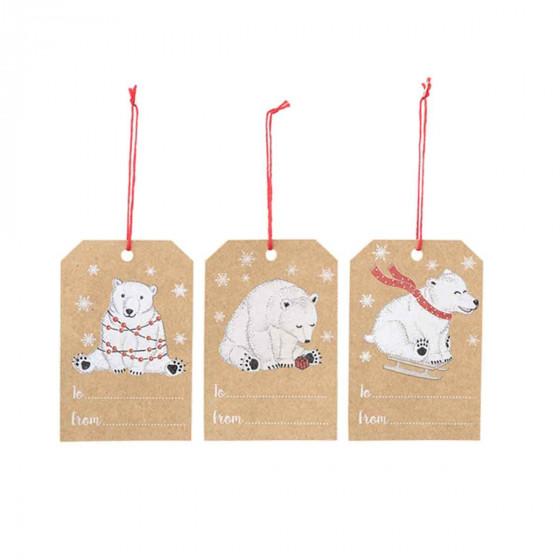 6 étiquettes pour cadeaux de Noël