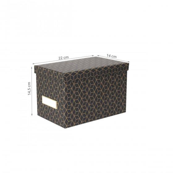 Boîte à CD noire et dorée