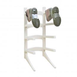 Rack à bottes blanc