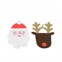 8 étiquettes de Noël décoratives