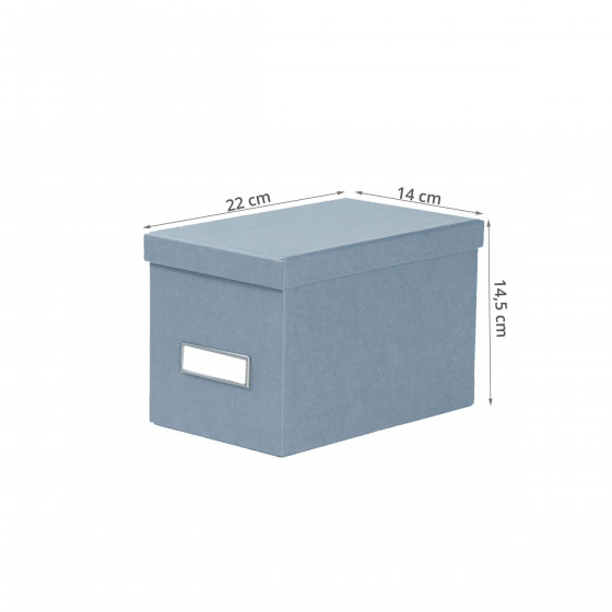 Boîte à CD en carton bleu gris
