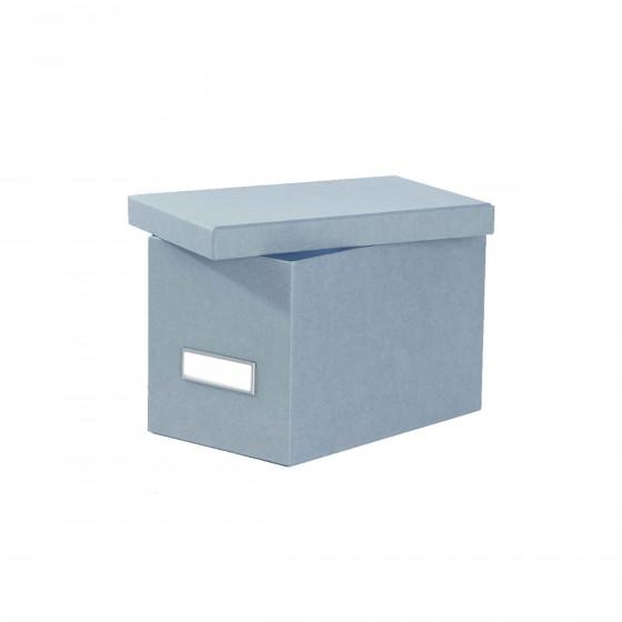 Petite boîte en carton bleu gris