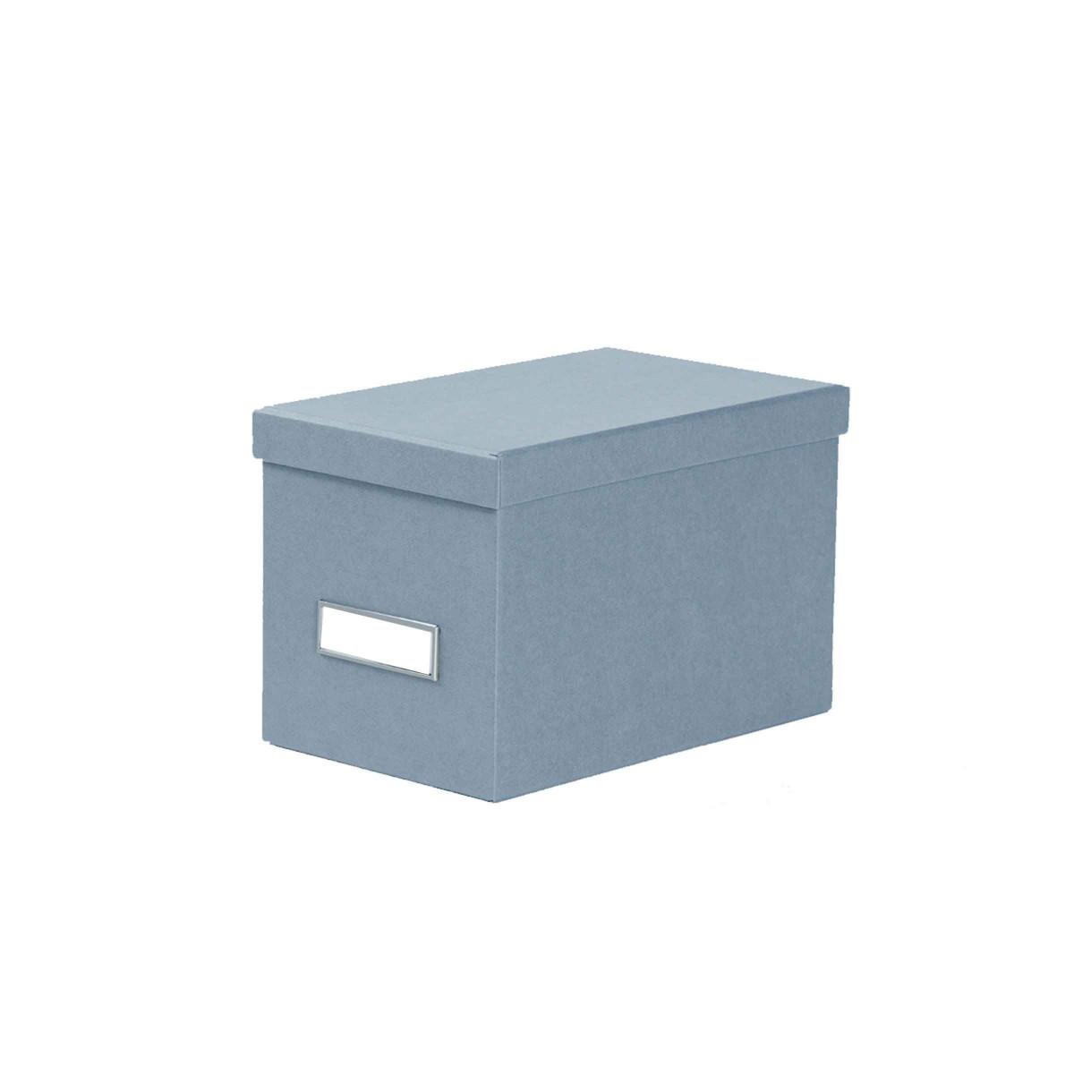 petite bo te en carton bleu gris. Black Bedroom Furniture Sets. Home Design Ideas