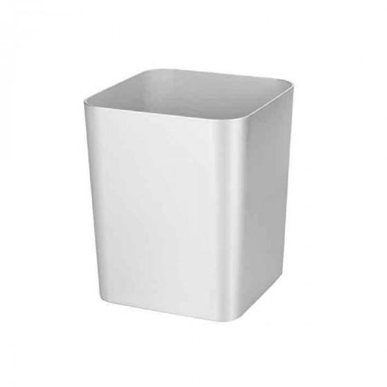 Poubelle de salle de bain gris argent 10 litres for Poubelle de salle de bain