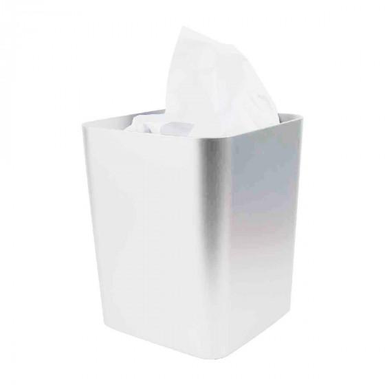 poubelle de salle de bain gris argent 10 litres. Black Bedroom Furniture Sets. Home Design Ideas