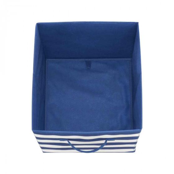 Boîte de rangement cube à rayures
