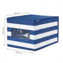 Boîte de rangement en tissu bleu (L)