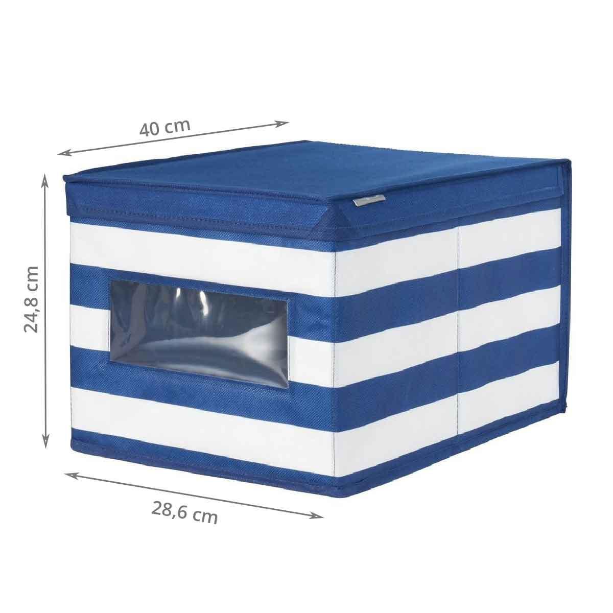 bo te de rangement en tissu bleu. Black Bedroom Furniture Sets. Home Design Ideas