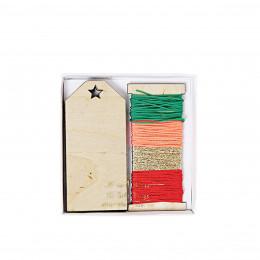 12 étiquettes en bois