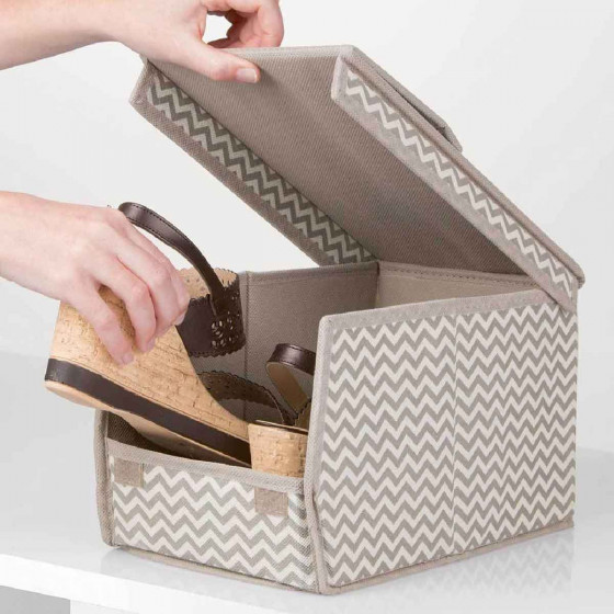 bo te chaussures en tissu pliable superposable. Black Bedroom Furniture Sets. Home Design Ideas