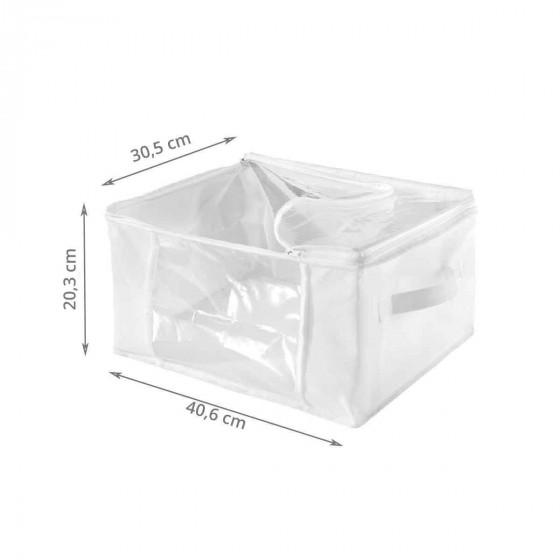 2 housses de rangement rectangulaires blanches (M)