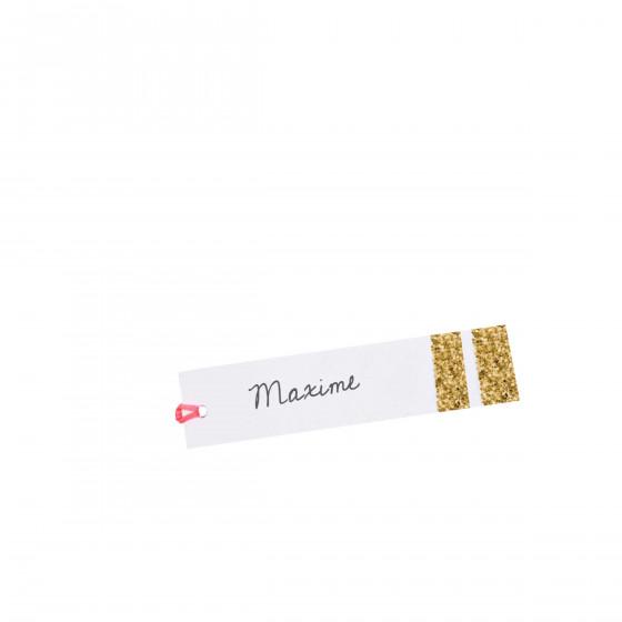 10 étiquettes cadeaux dorées