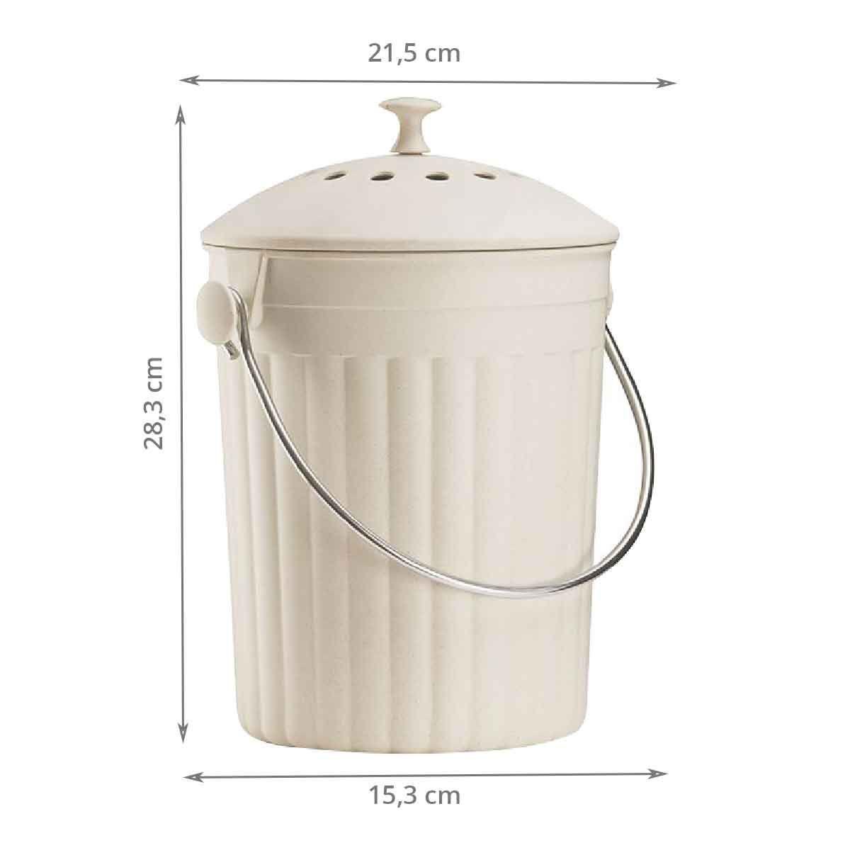 seau compost cologique 4 5 litres. Black Bedroom Furniture Sets. Home Design Ideas