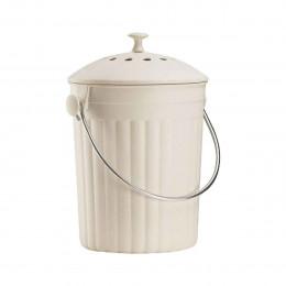 Seau à compost couleur crème