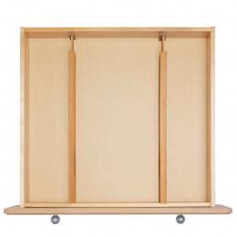 2 séparateurs de tiroir extensibles en bois
