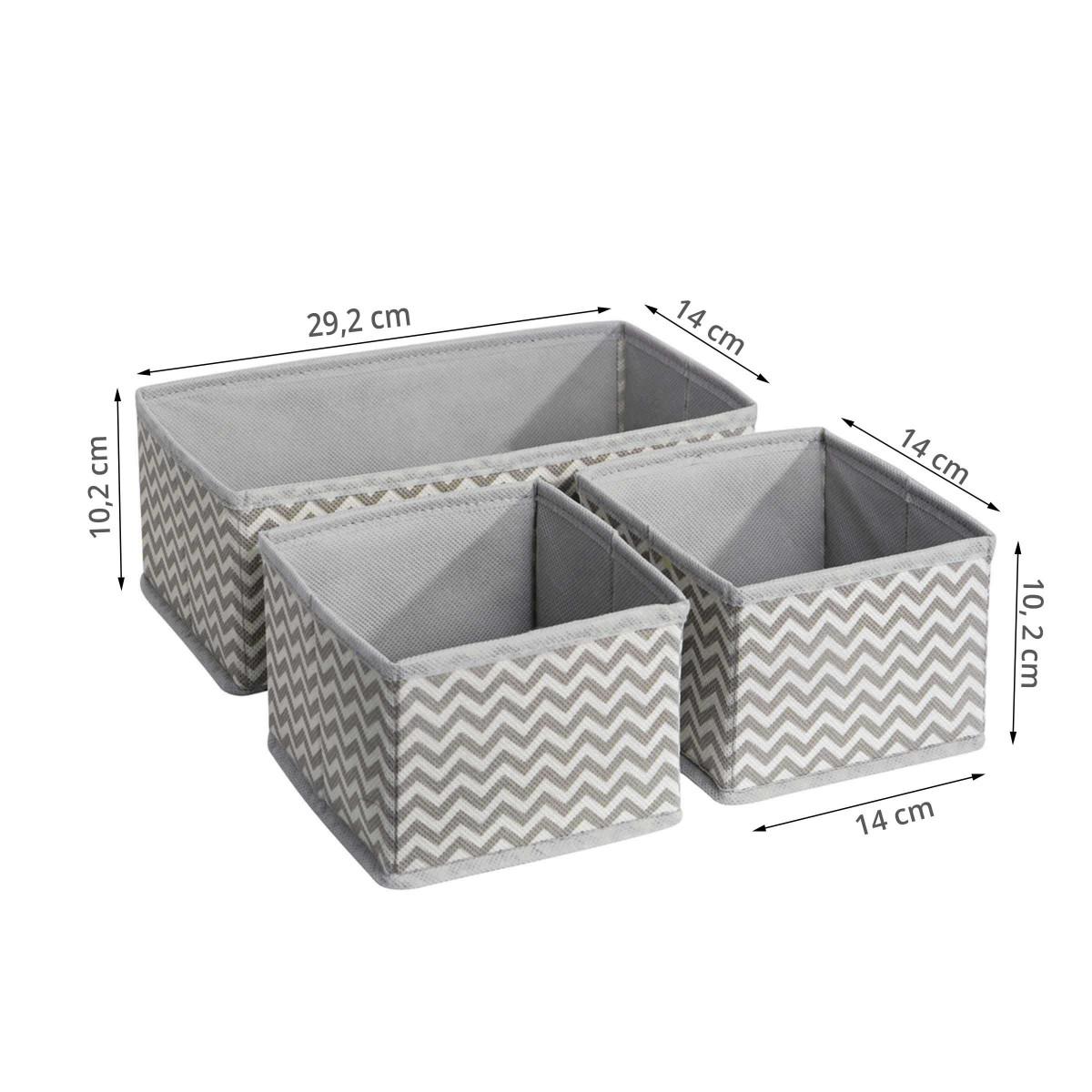 3 organisateurs de tiroir en tissu rangement. Black Bedroom Furniture Sets. Home Design Ideas