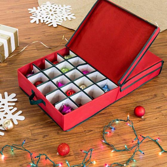 Boîte de rangement boules de Noël