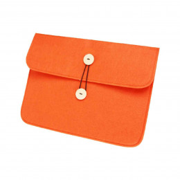 Pochette en feutre orange fluo
