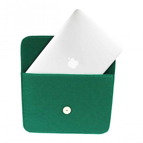 Pochette pour ordinateur portable. Verte