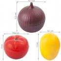 Boîtes de conservation oignon citron tomate