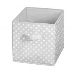 Boîte de rangement cube à pois