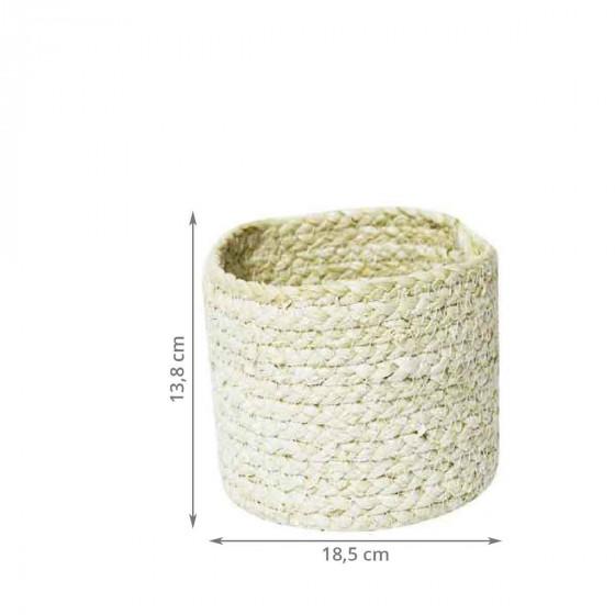 panier rond en fibre de maïs L