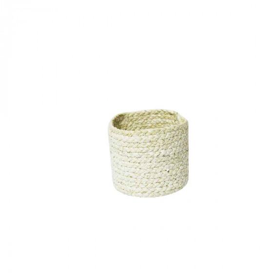 Petit panier rond en fibre naturelle S