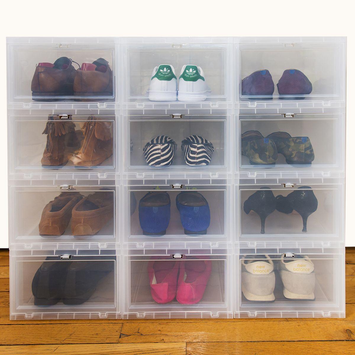speical offer outlet factory outlet Boîte à chaussures en plastique transparent avec porte frontale