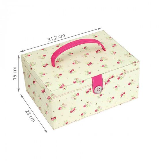 Boîte à couture à fleurs (L)
