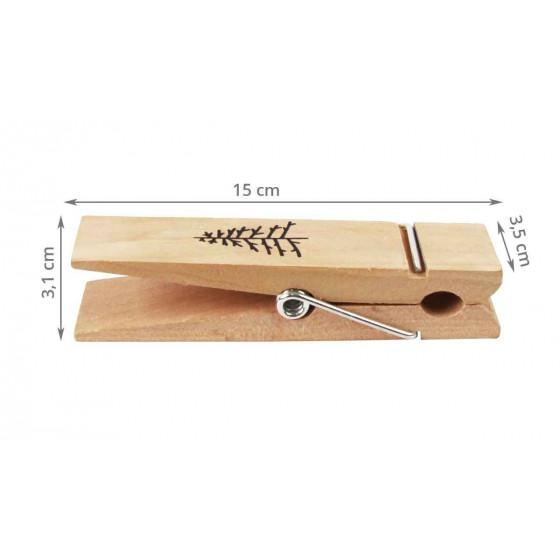 4 pinces à linge géantes en bois