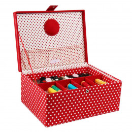 Boîte à couture rouge (L)