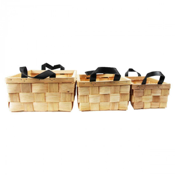panier de rangement en lattes de bois. Black Bedroom Furniture Sets. Home Design Ideas
