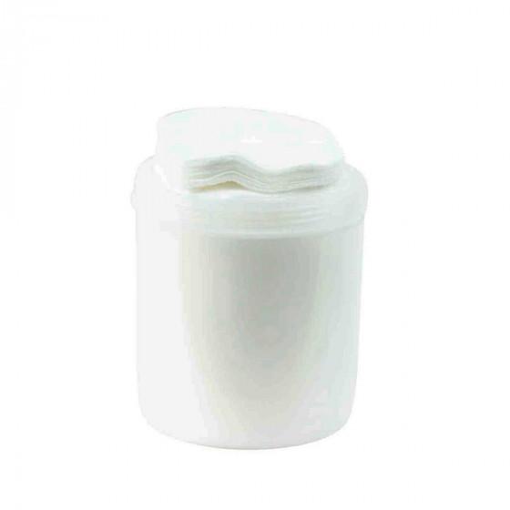 Boîte à coton blanche