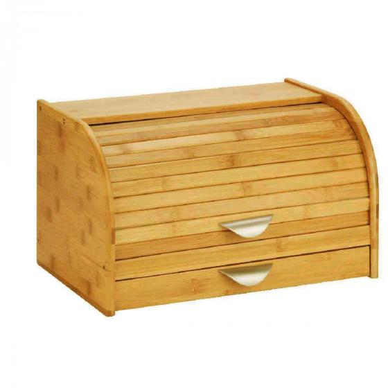 bo te pain avec planche d couper en bambou. Black Bedroom Furniture Sets. Home Design Ideas