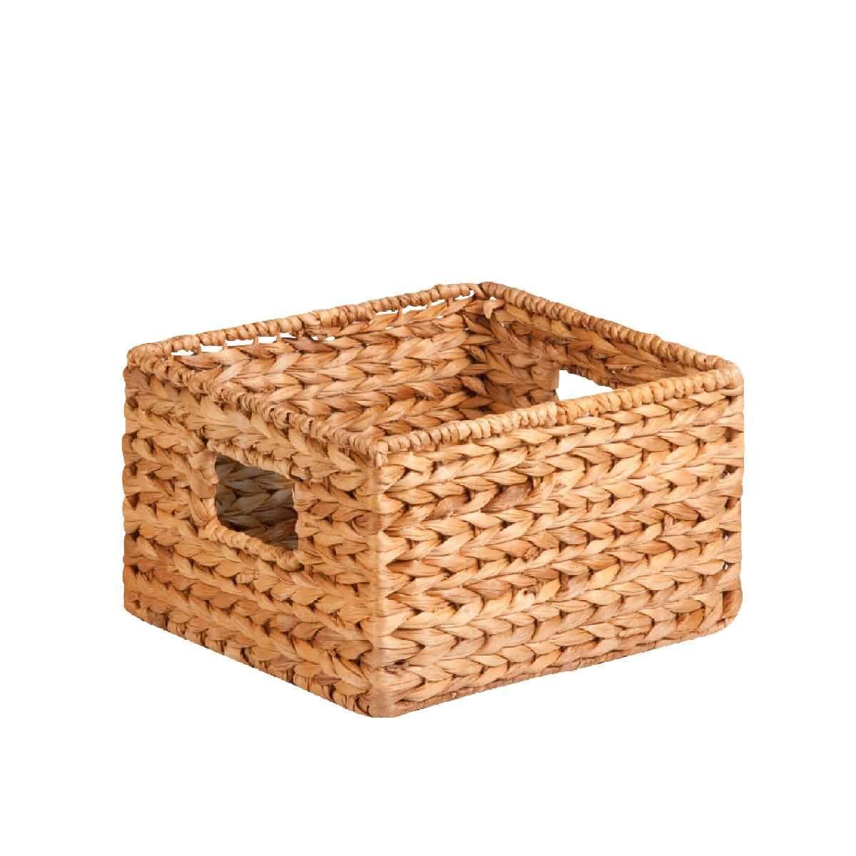 panier carr en jacinthe d 39 eau 16 5x26 5x26 5. Black Bedroom Furniture Sets. Home Design Ideas