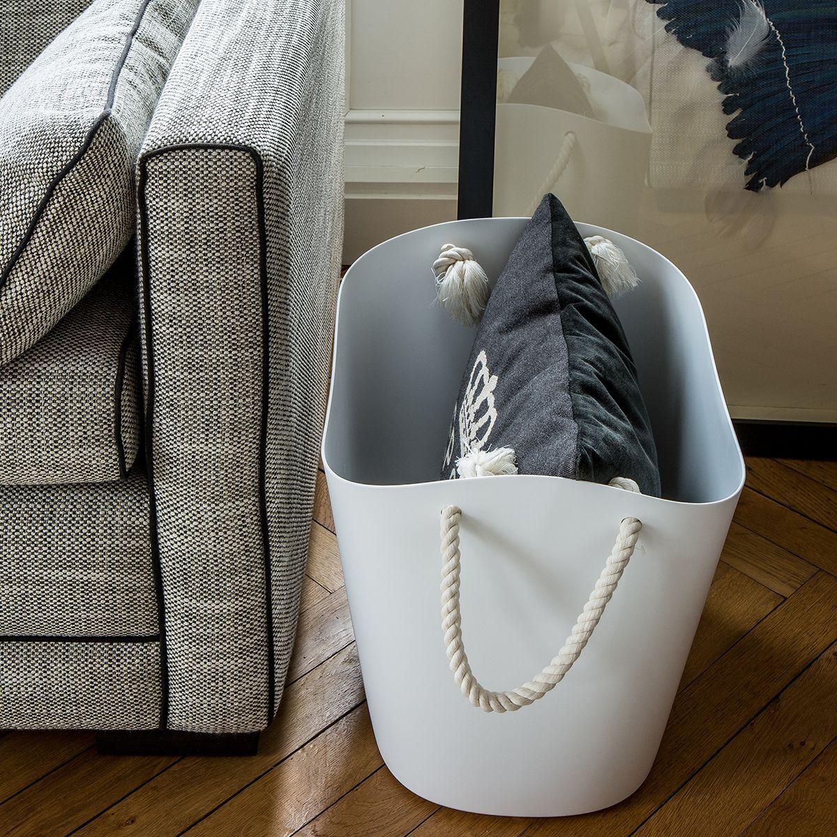 Panier de rangement design - Blanc