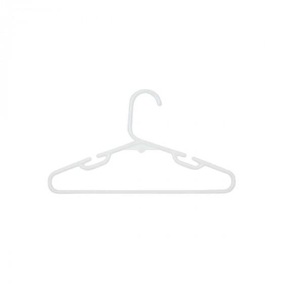 5 cintres enfant en plastique blanc