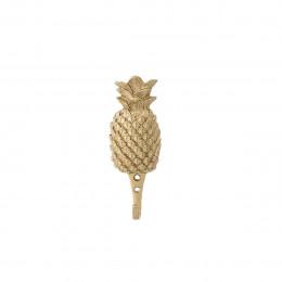 Patère en métal doré ananas