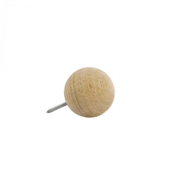 Patère boule en bois (L)
