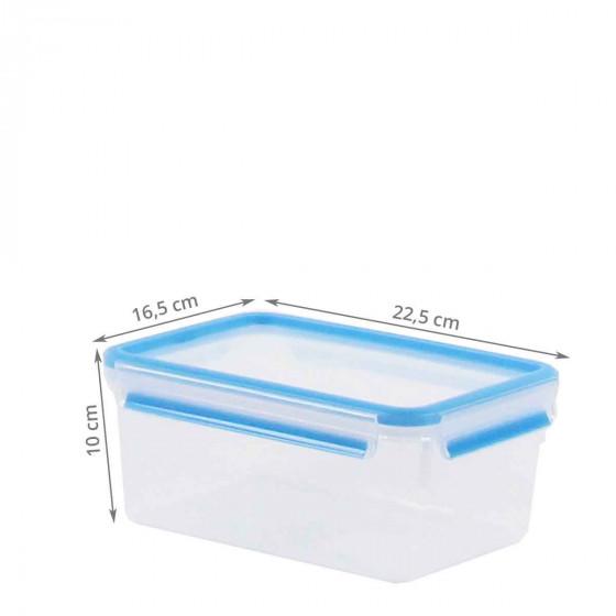 Boîte alimentaire en plastique transparent. Taille L (2,3 litres)