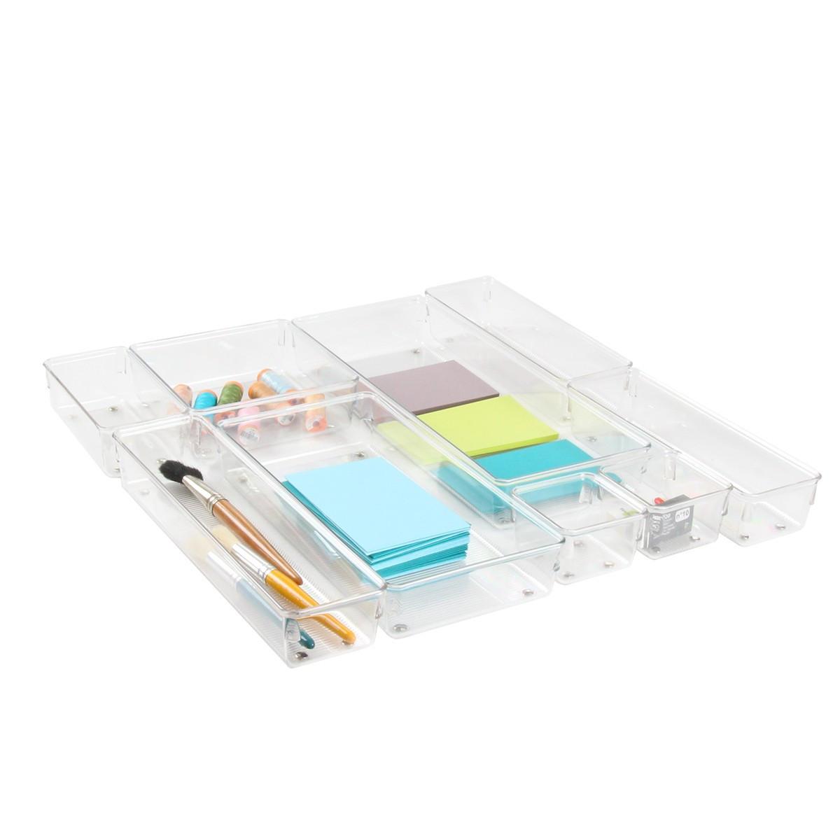 Petit organiseur de tiroir en acrylique rangement bureau - Organisateur de tiroir ikea ...