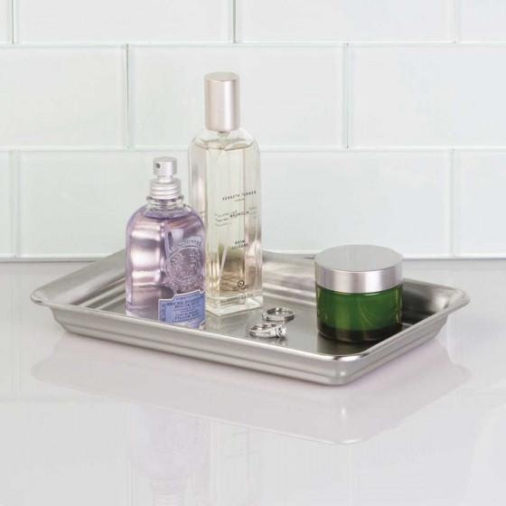 Présentoir de salle de bain en inox