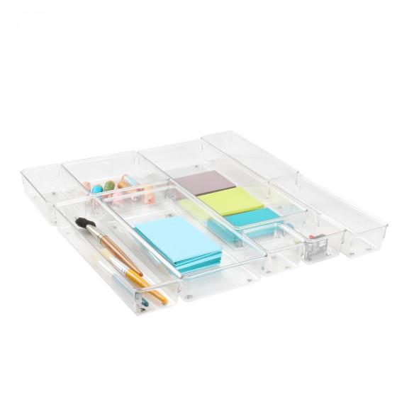 Organisateur de tiroir de bureau acrylique transparent - Bureau