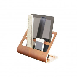 Porte télécommandes et tablette en bois laminé