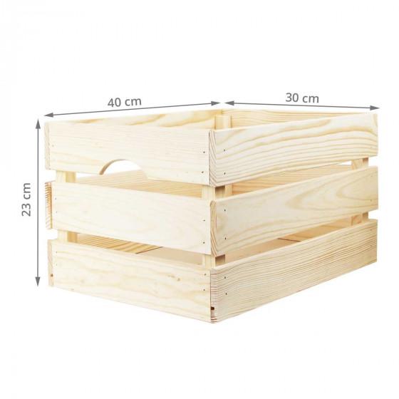 Caisse de rangement en pin L