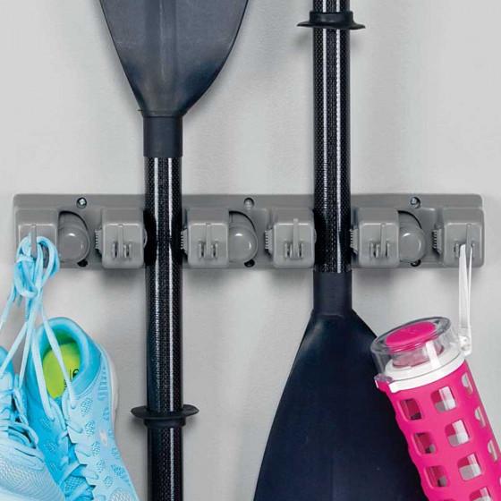 Rangement mural pour accessoires de sport